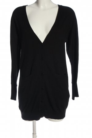 H&M Strick Cardigan schwarz Business-Look