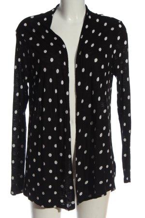 H&M Strick Cardigan schwarz-weiß Punktemuster Casual-Look