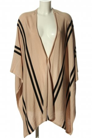 H&M Strick Cardigan nude-schwarz Streifenmuster Casual-Look