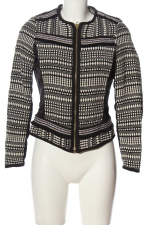 H&M Strick Cardigan schwarz-weiß Allover-Druck Casual-Look