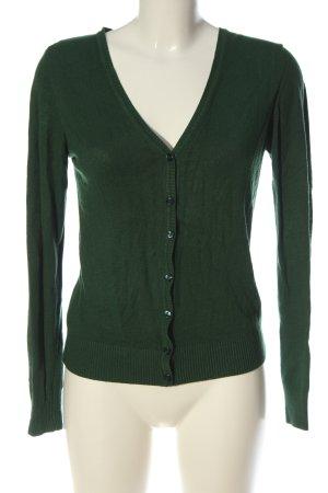 H&M Strick Cardigan grün Casual-Look
