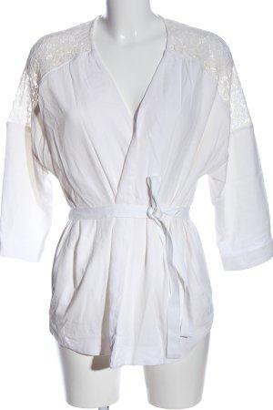 H&M Wikkelblouse wit zakelijke stijl
