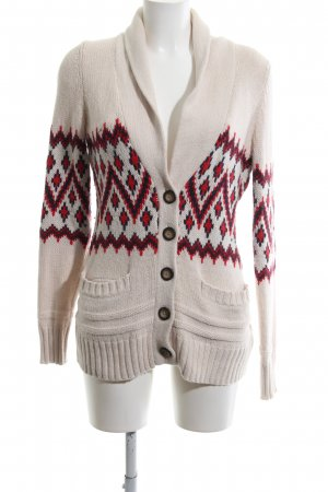 H&M Strick Cardigan grafisches Muster Casual-Look