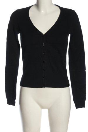 H&M Strick Cardigan schwarz schlichter Stil