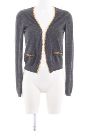 H&M Strick Cardigan dunkelgrau Casual-Look