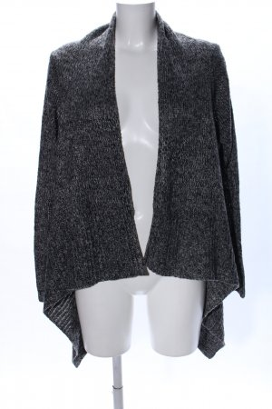 H&M Knitted Cardigan black-light grey flecked casual look