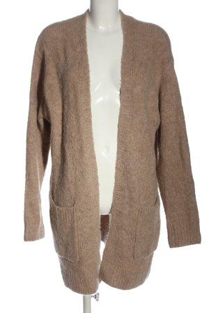 H&M Strick Cardigan braun meliert Casual-Look