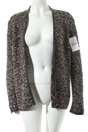 H&M Strick Cardigan schwarz-goldfarben klassischer Stil