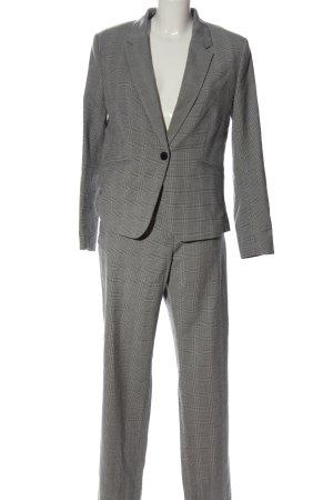 H&M Tailleur-pantalon gris clair motif à carreaux style d'affaires