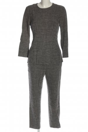 H&M Knitted Twin Set light grey check pattern casual look