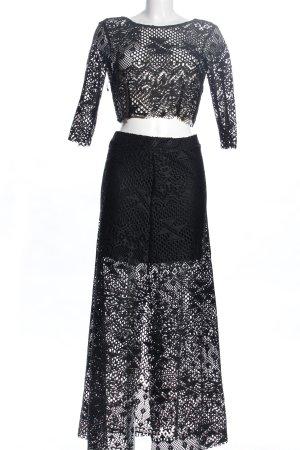 H&M Strick Twin Set schwarz Elegant