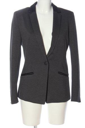 H&M Blazer in maglia grigio chiaro-nero motivo a righe stile casual