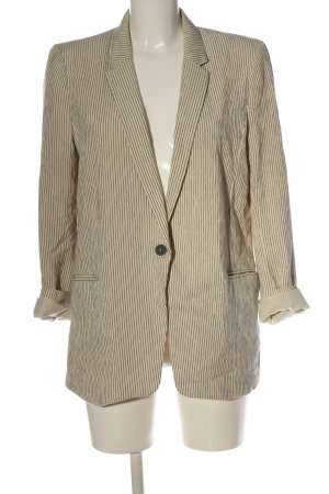 H&M Knitted Blazer natural white-black striped pattern business style
