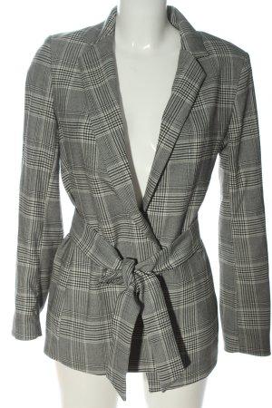 H&M Marynarka z dzianiny jasnoszary-czarny Na całej powierzchni W stylu casual