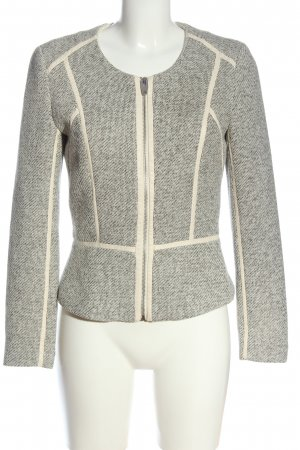 H&M Knitted Blazer cream-black weave pattern casual look
