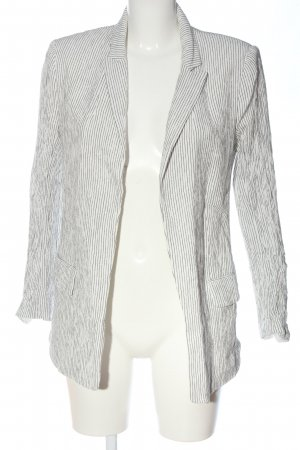 H&M Blazer in maglia bianco-nero motivo a righe stile casual