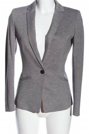 H&M Blazer en maille tricotée gris clair moucheté style décontracté