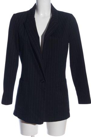 H&M Gebreide blazer zwart-wit gestreept patroon zakelijke stijl