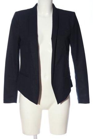H&M Strickblazer blau Business-Look