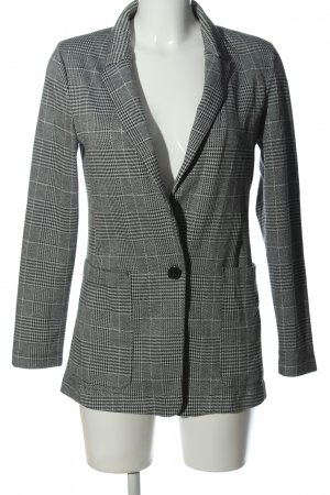 H&M Strickblazer hellgrau Allover-Druck Business-Look