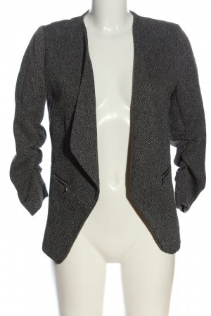 H&M Knitted Blazer light grey-black flecked business style