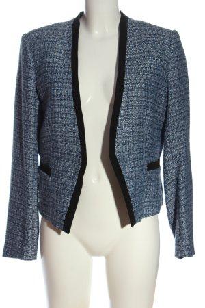 H&M Blazer tejido azul-negro Patrón de tejido estilo «business»