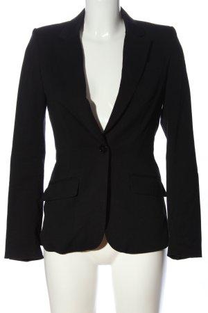 H&M Blazer en maille tricotée noir style d'affaires