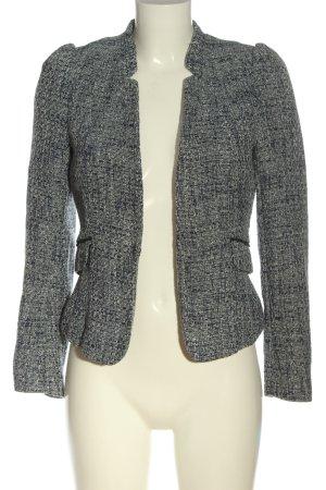 H&M Blazer in maglia blu-grigio chiaro puntinato stile casual