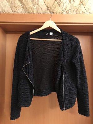 H&M Divided Blazer in maglia blu scuro