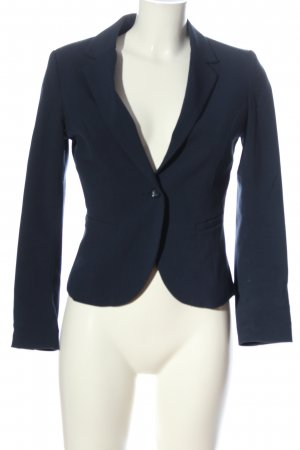 H&M Gebreide blazer blauw zakelijke stijl