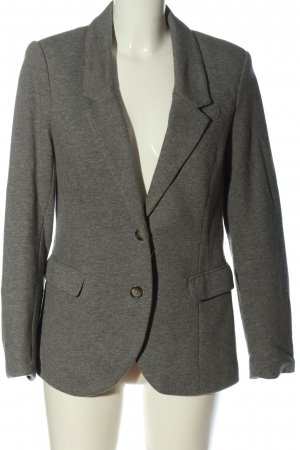 H&M Knitted Blazer light grey flecked casual look
