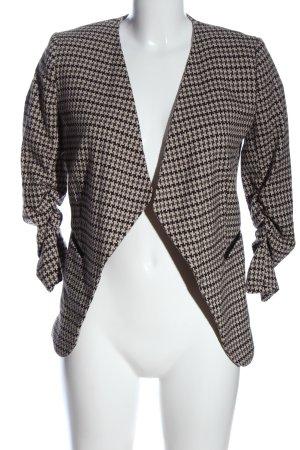 H&M Blazer in maglia bianco sporco stampa integrale stile professionale