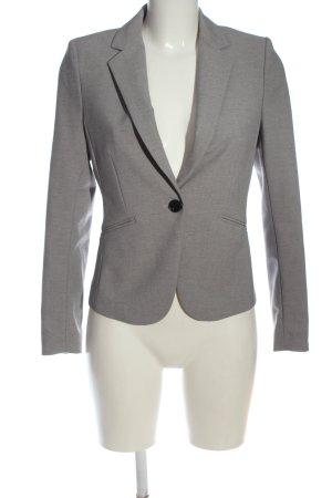 H&M Strickblazer hellgrau meliert Business-Look
