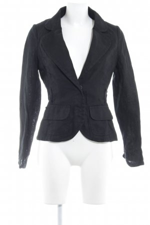 H&M Strickblazer schwarz Business-Look