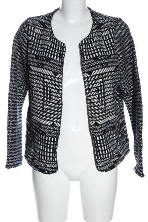 H&M Strickblazer schwarz-weiß Allover-Druck Casual-Look