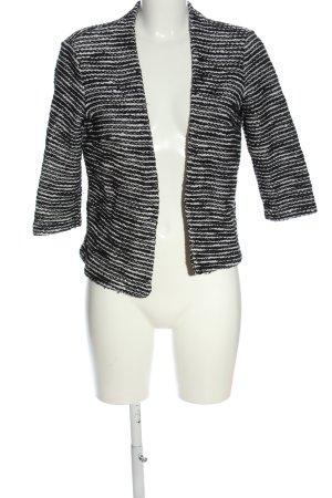 H&M Strickblazer schwarz-weiß Streifenmuster Casual-Look