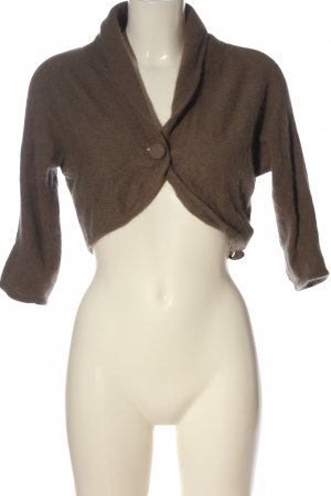 H&M Knitted Bolero brown casual look