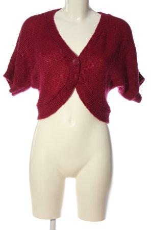 H&M Torera de punto rojo look casual