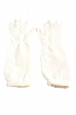 H&M Knitted Gloves natural white casual look