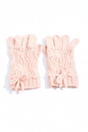 H&M Knitted Gloves pink casual look