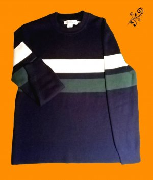 H&M L.O.G.G. Wollen trui donkerblauw Polyester