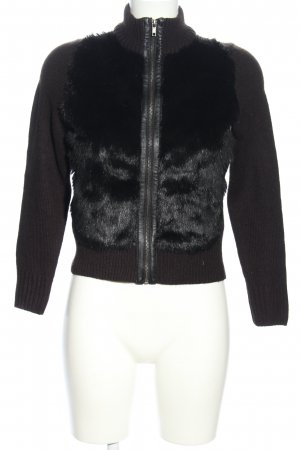H&M Strickjacke braun-schwarz Casual-Look