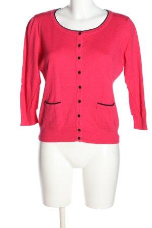 H&M Strickjacke pink-schwarz Casual-Look