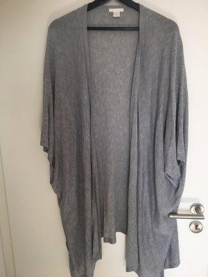 H&M Cárdigan de manga corta gris claro