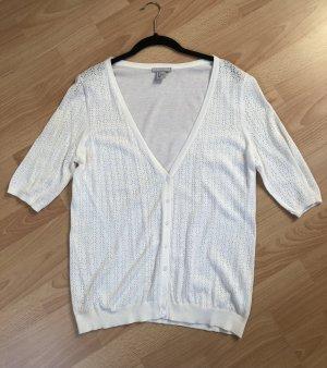 H&M Cárdigan de manga corta blanco puro Algodón