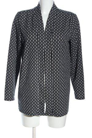 H&M Strickjacke schwarz-weiß Allover-Druck Casual-Look
