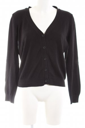 H&M Strickjacke schwarz Casual-Look