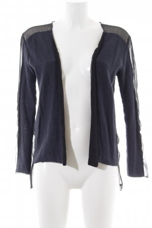 H&M Strickjacke blau-schwarz Casual-Look