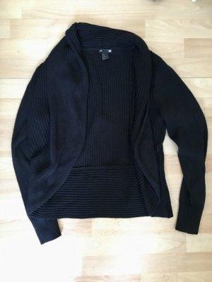 H&M Basic Gebreid vest zwart Acryl
