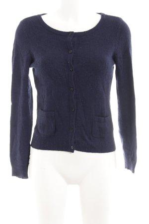 H&M Strickjacke dunkelblau Casual-Look